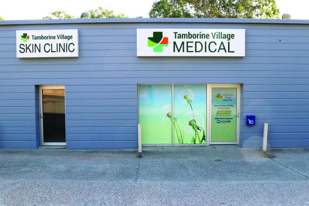 Tamborine Village Medical & Skin Clinic's new signage & window design