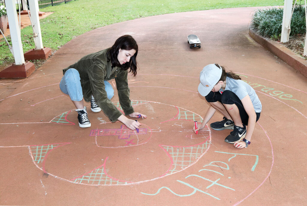 Creating the Prayer Labyrinth