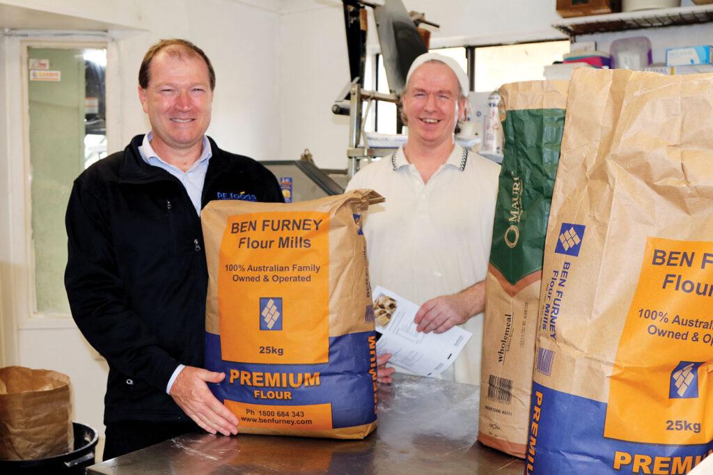 Rodney Hobbins of PE Foods with Phil Rands-Trevor