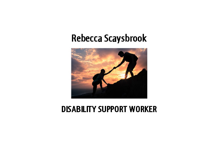 Rebecca Scaysbrook - Disability Support Worker