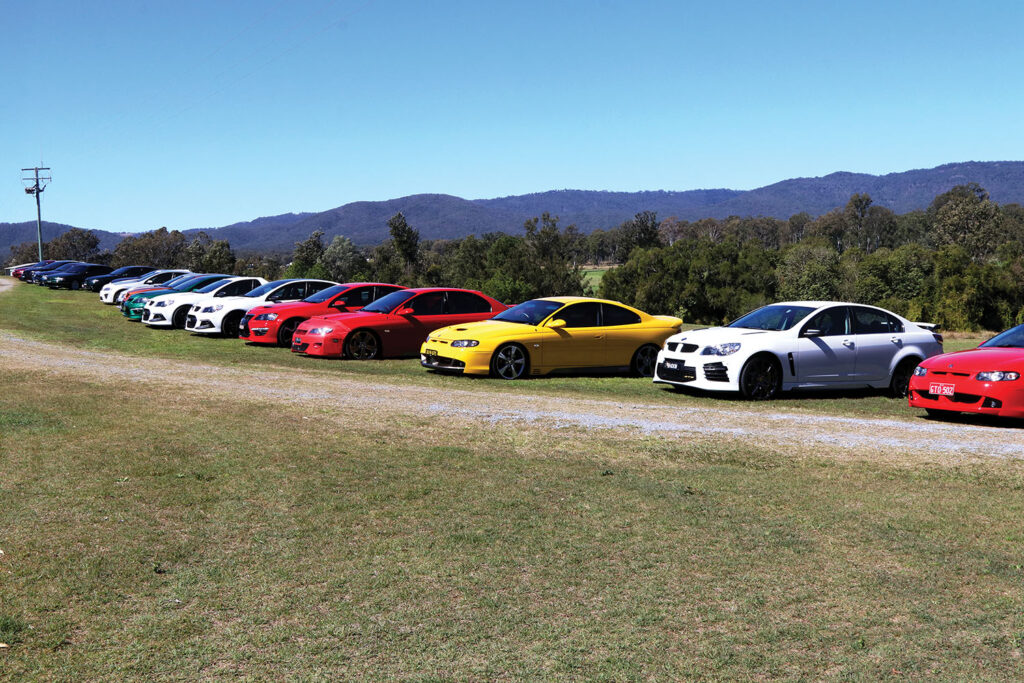 HSV Car Club All  Lined Up