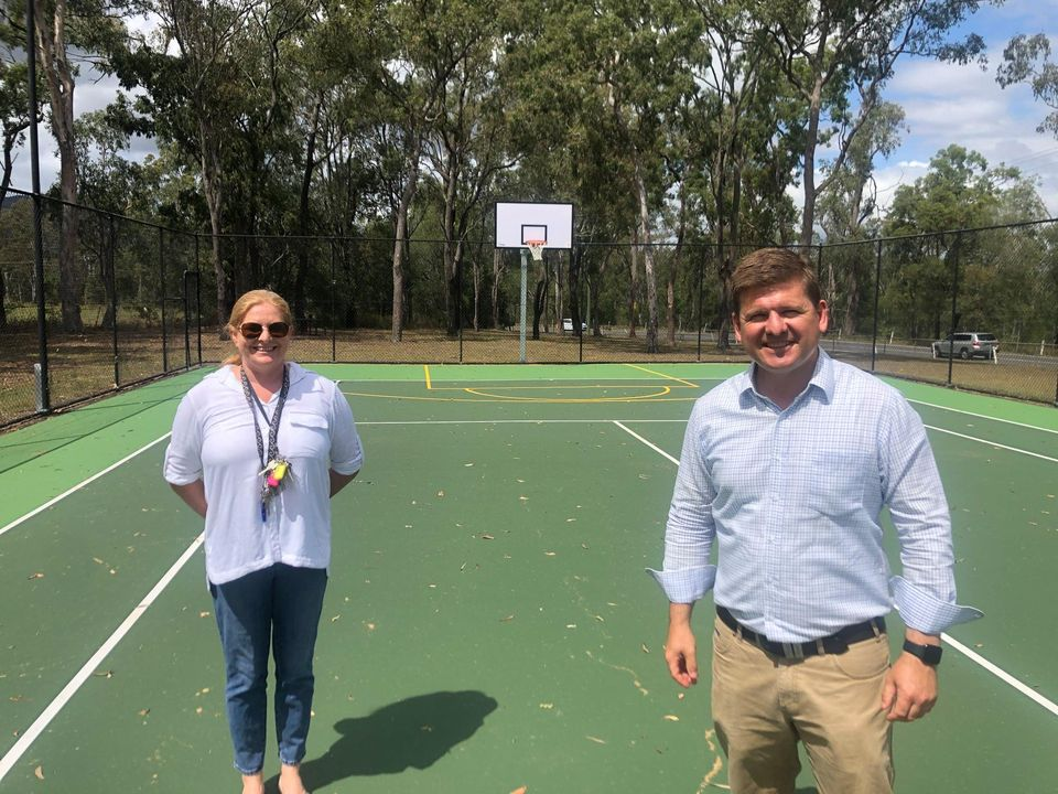 Nicole Pardilanan & Jon Krause MPOn Newly Surfaced Tennis Courts