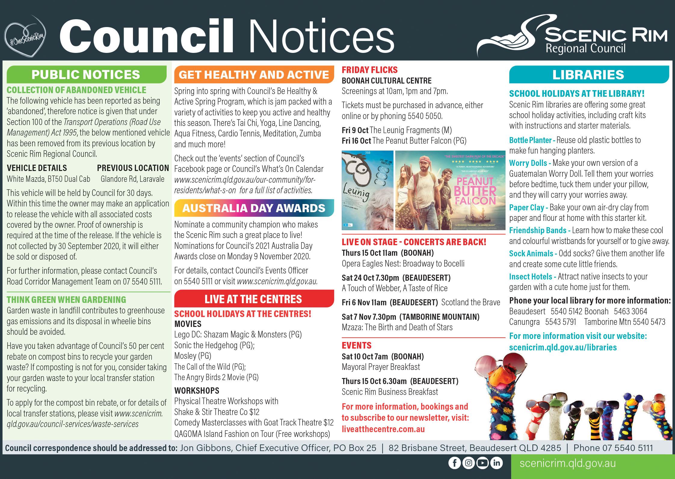 SRRC October Notices