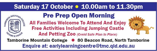 TMC - Pre Prep Open Morning - 17 Oct 2020