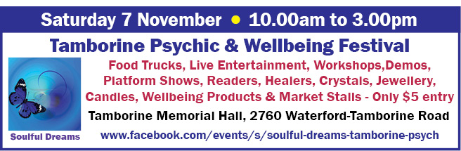 Tamborine Psychic & Wellbeing Festival - 7 Nov 2020