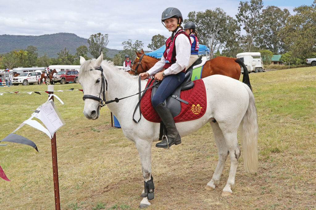 Bronte Forbes-Rohde with 'Gidgee'
