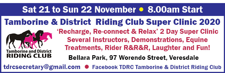 Tamborine & District Riding Club Super Clinic 2020