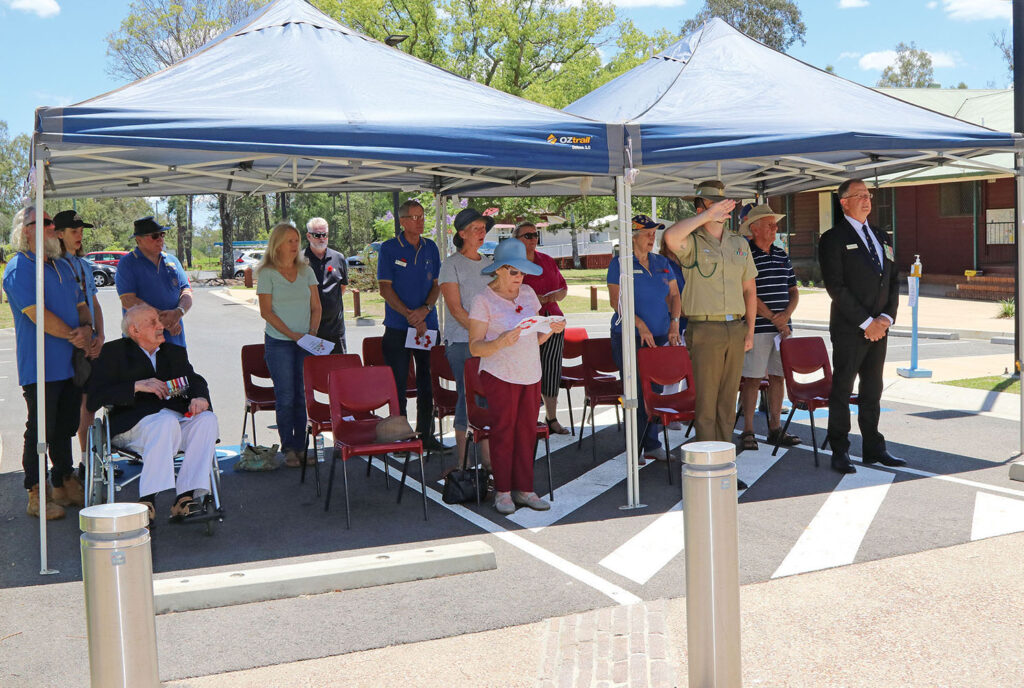 Tamborine residents congregate for the ceremony