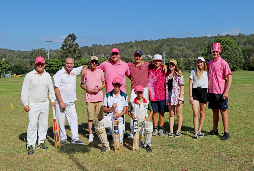 Members of the Pink Stumps Cricket Team