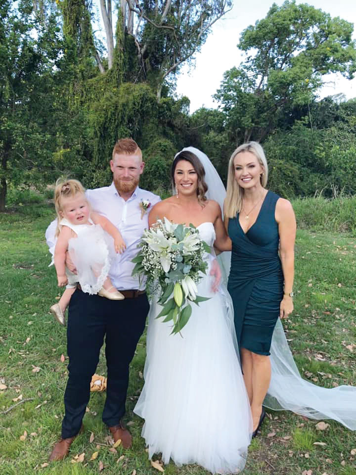 Alannah and Ricky Taylor's wedding day