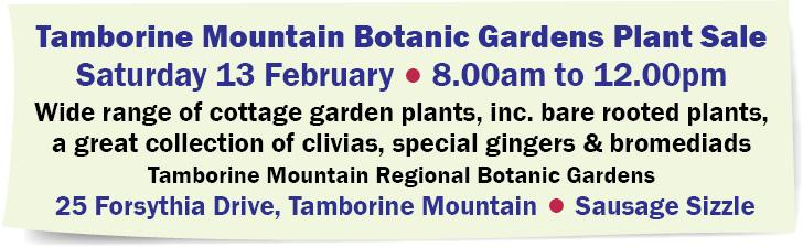 Tamborine Mountain Botanic Gardens Plant Sale