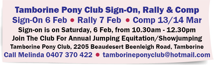 Tamborine Pony Club Sign-On, Rally & Competition