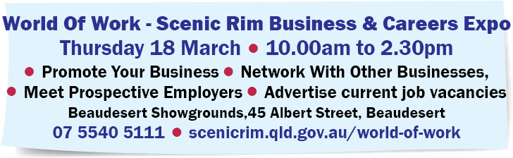 World Of Work - Scenic Rim Business & Careers Expo