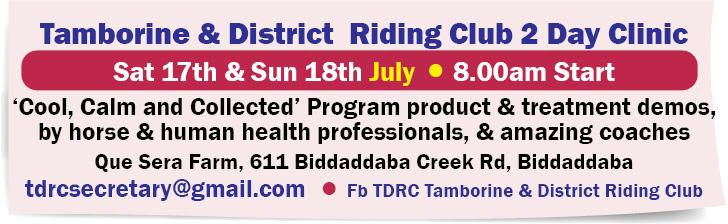 Tamborine & District Riding Club 2 Day Clinic