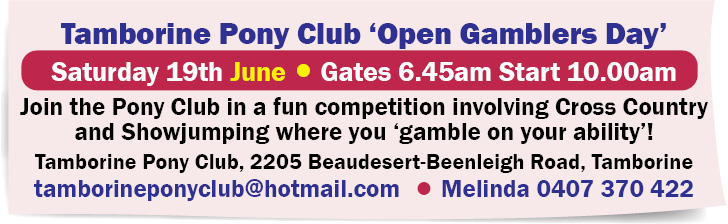 Tamborine Pony Club 'Open Gamblers Day'