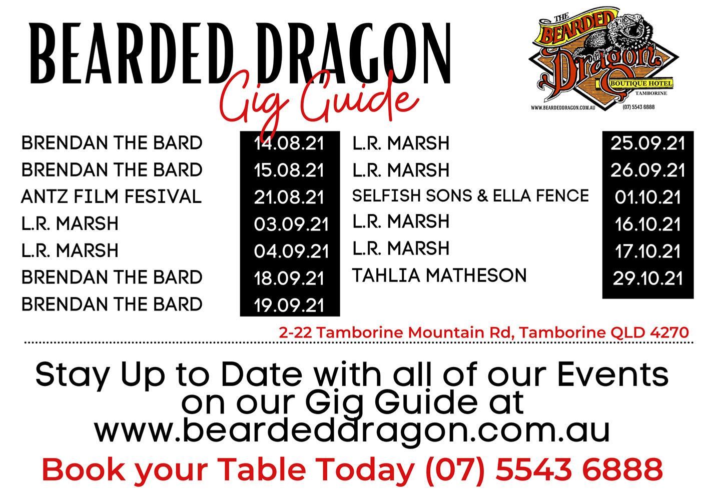 Bearded Dragon Gig Guide